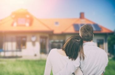 Couple looking at new home