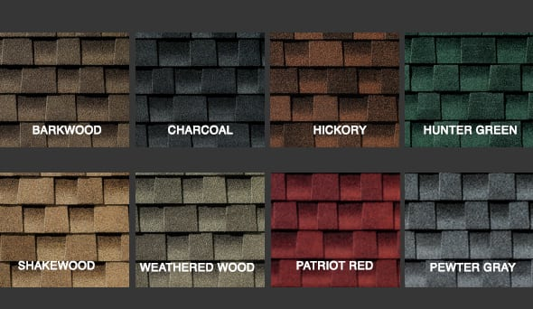 Shingle Styles Amp Colors Leafguard Of Cincinnati